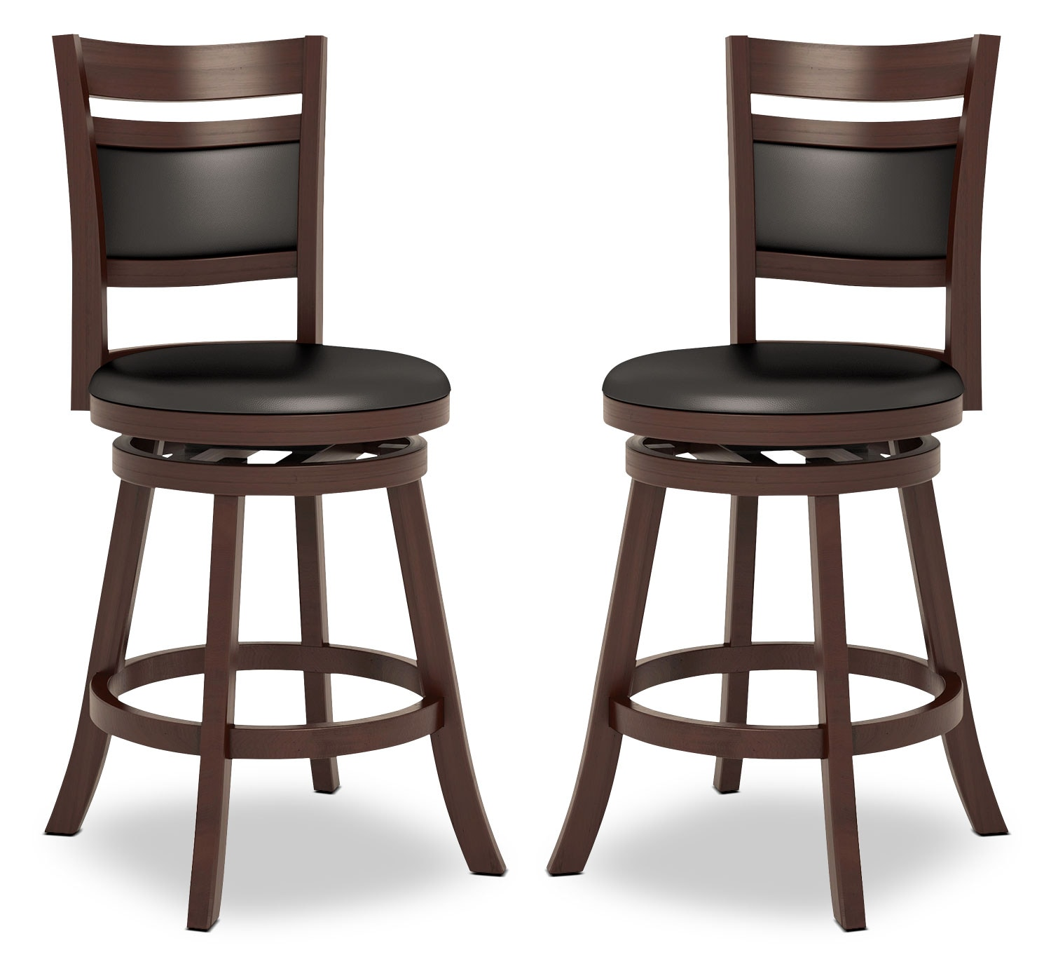 "Woodgrove 38"" Bar Stool, Set of 2 – Cushion Back"