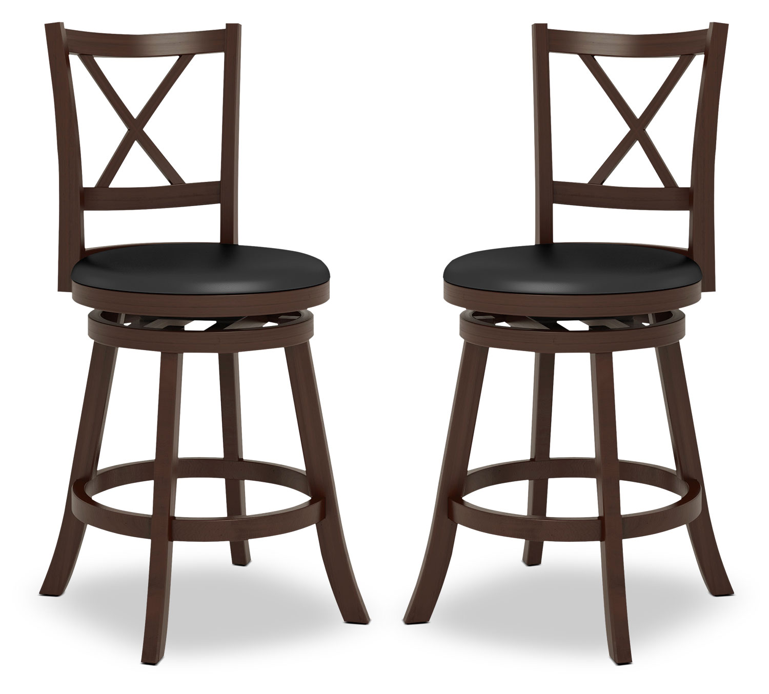 "Woodgrove 38"" Bar Stool, Set of 2 – Cross Back"