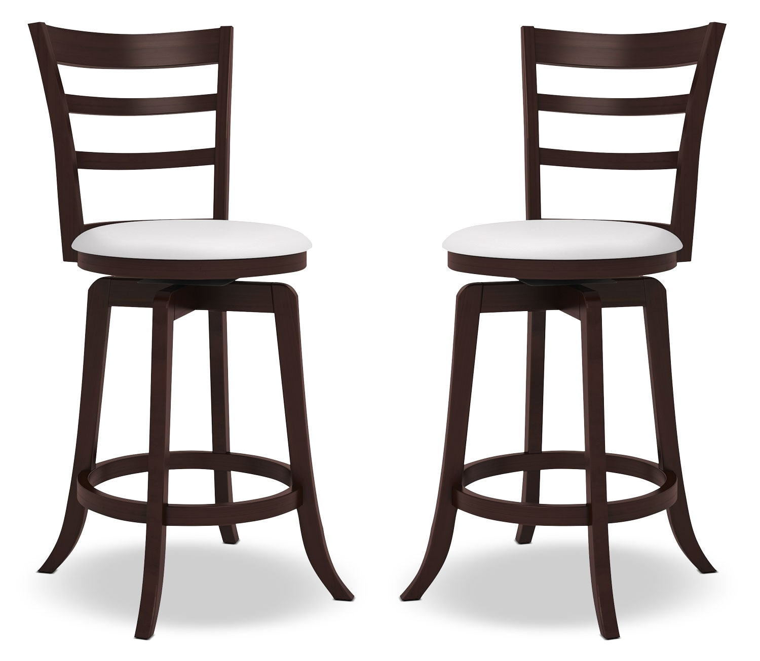 "Woodgrove 38"" Barstool, Set of 2 – Slatted Back"