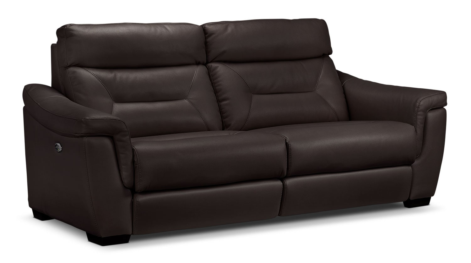 Living Room Furniture - Ralston Power Reclining Sofa - Walnut