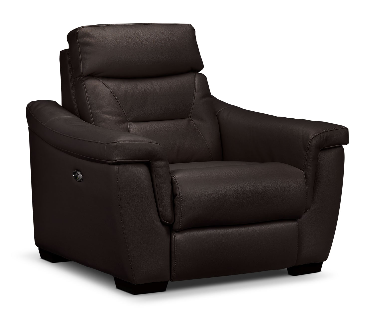 Living Room Furniture - Ralston Power Recliner - Walnut