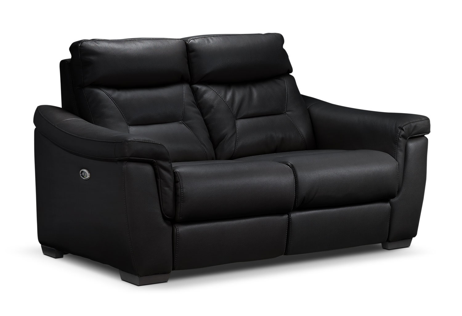 Living Room Furniture - Ralston Power Reclining Loveseat - Black