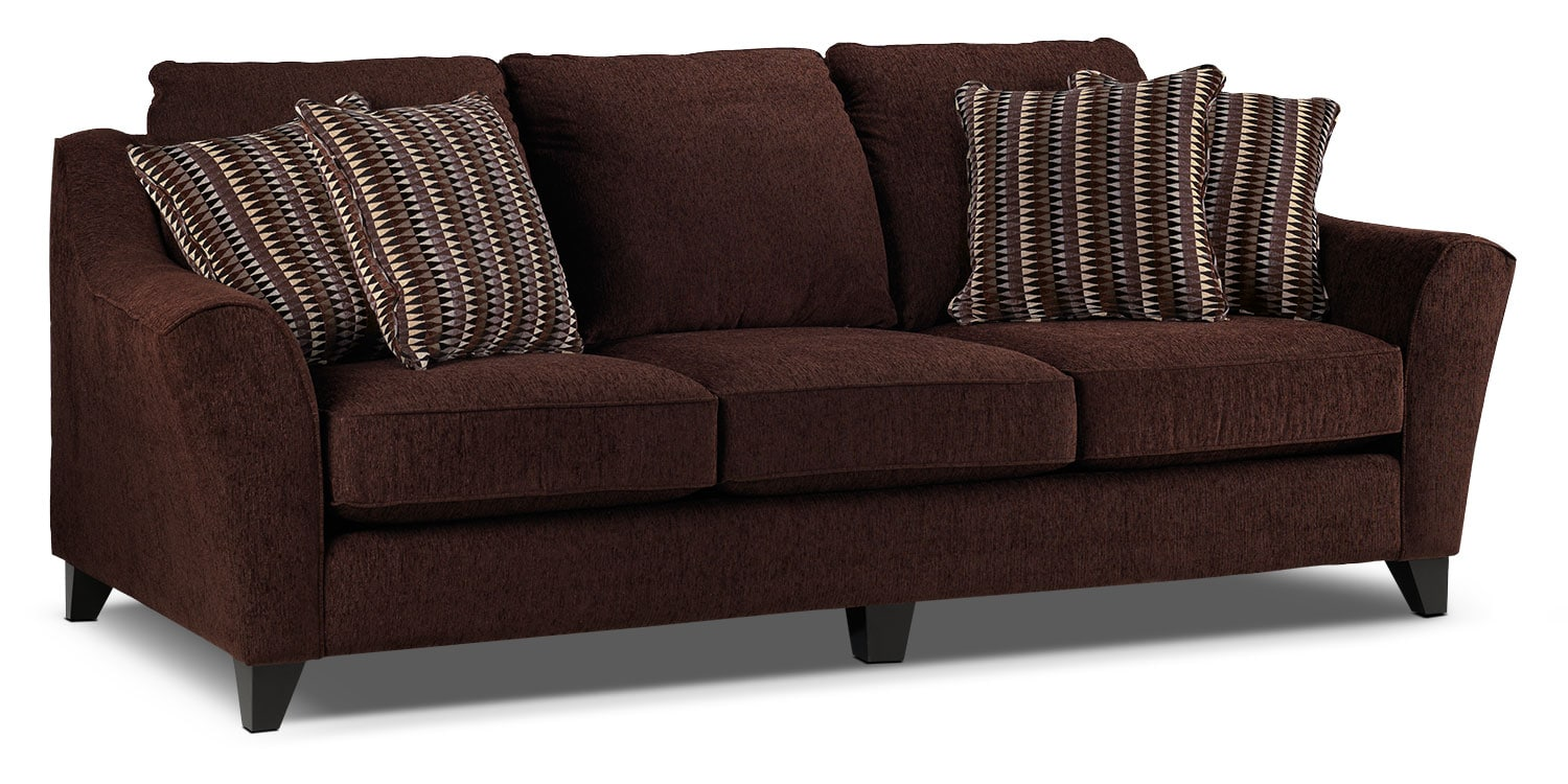 Living Room Furniture - Alijon Sofa - Espresso