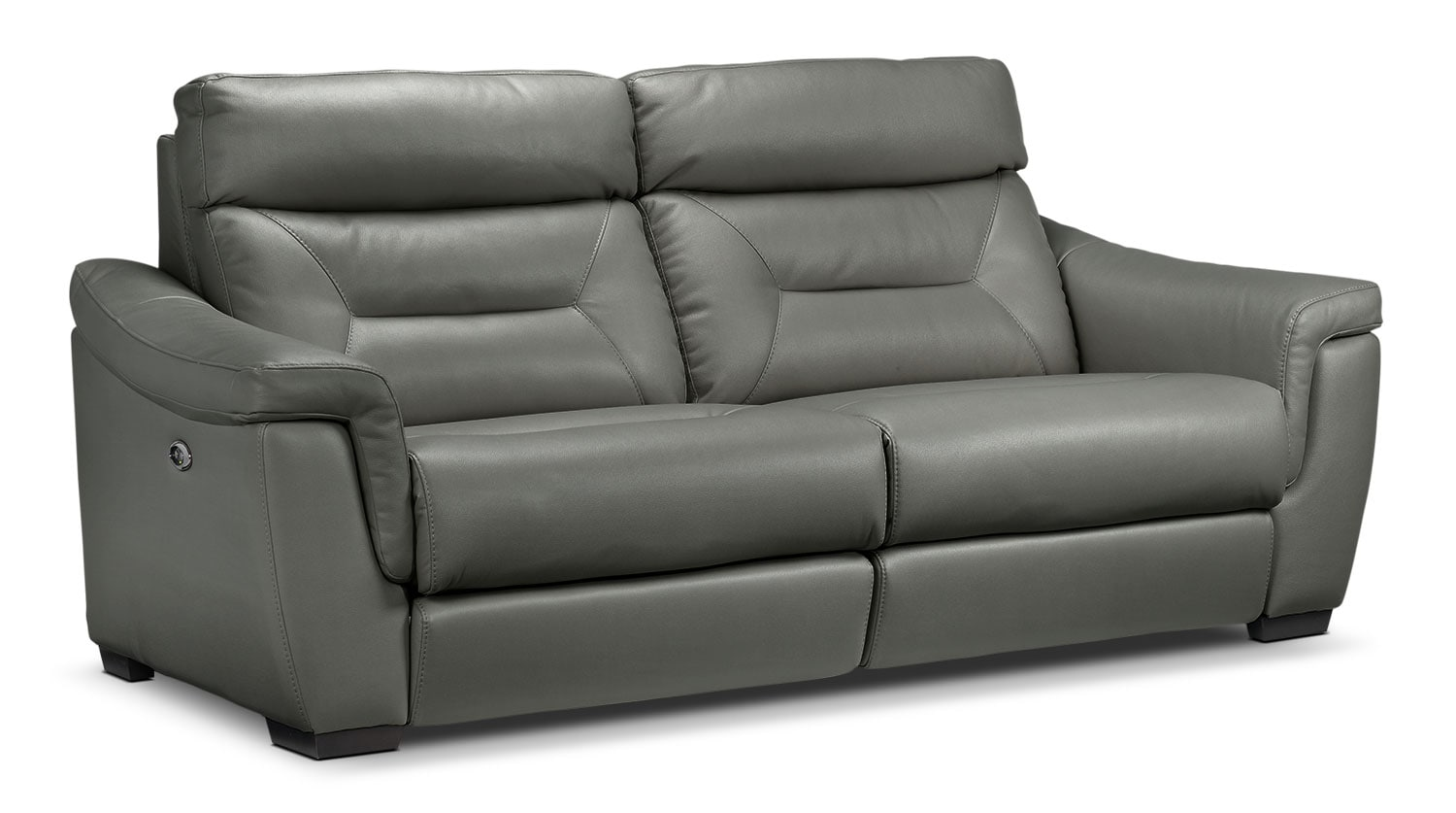 Living Room Furniture - Ralston Power Reclining Sofa - Graphite