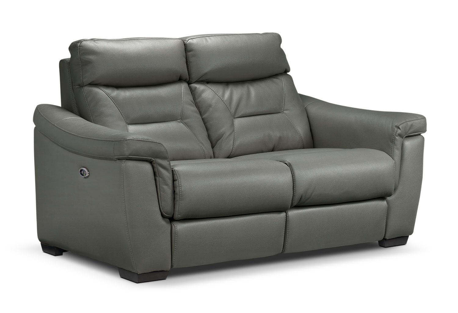 Living Room Furniture - Ralston Power Reclining Loveseat - Graphite