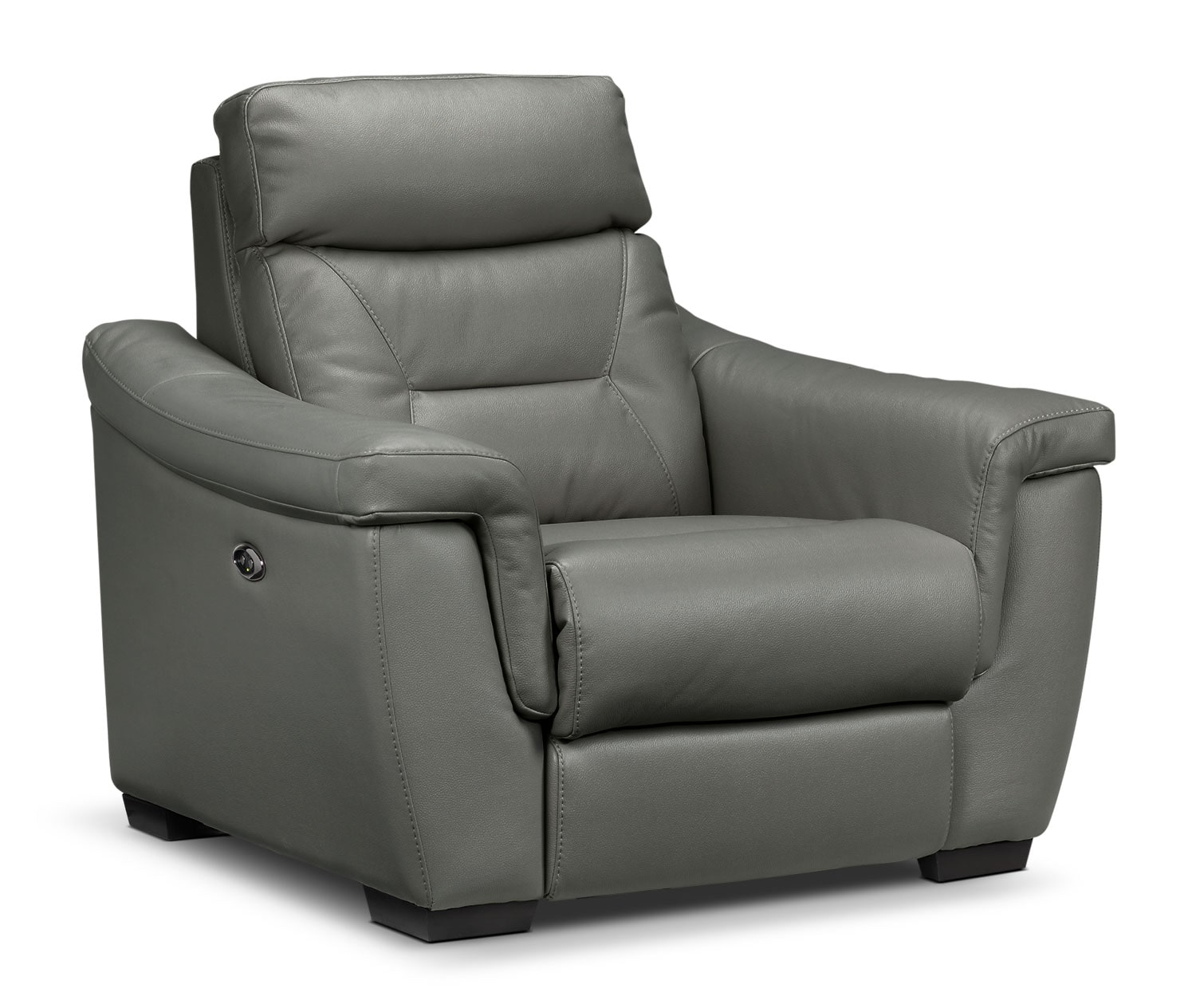 Living Room Furniture - Ralston Power Recliner - Graphite