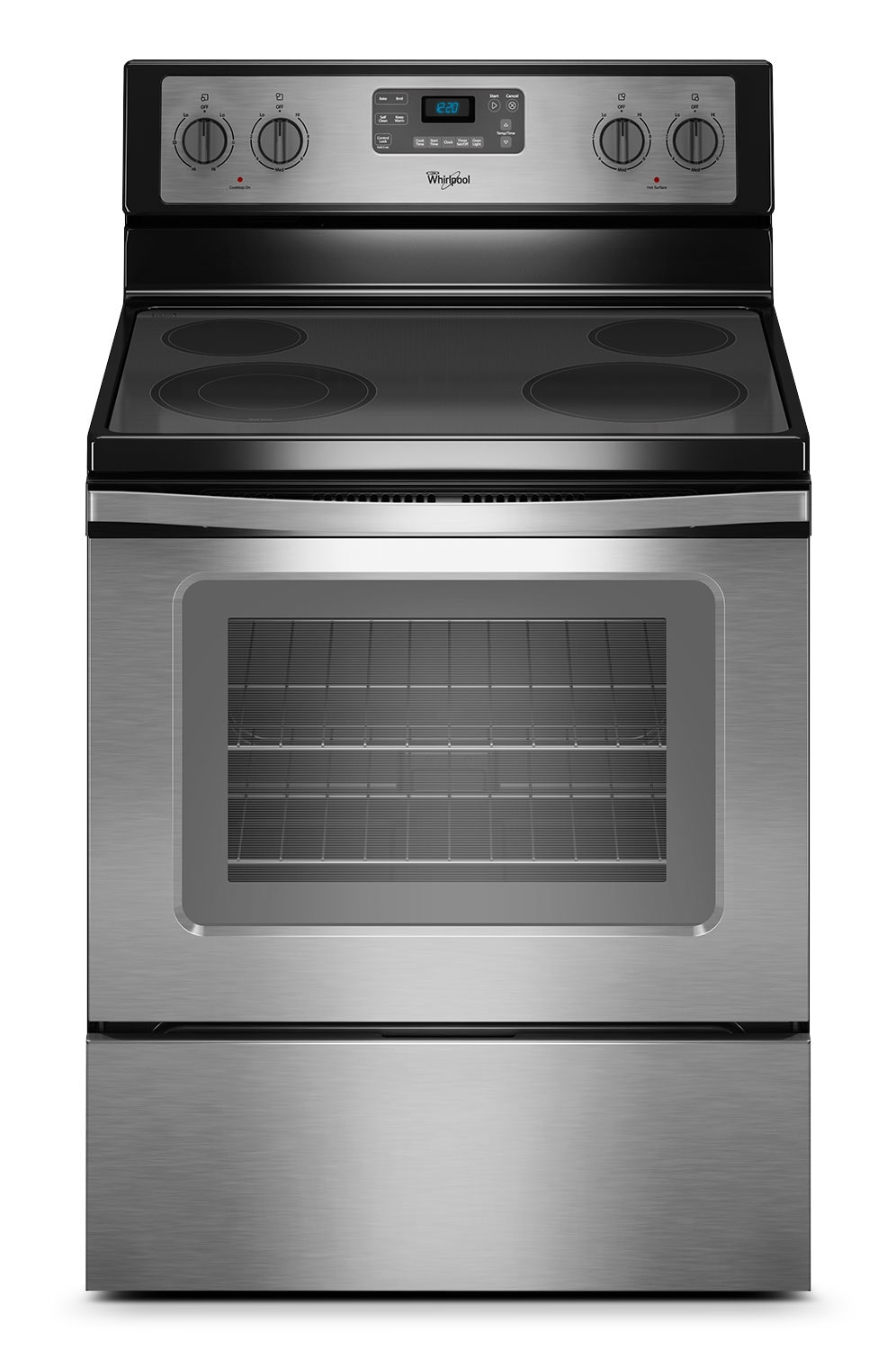Cooking Products - Whirlpool 5.3 Cu. Ft. Electric Range - Stainless Steel