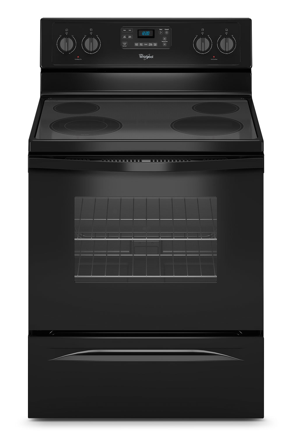 Cooking Products - Whirlpool Black Freestanding Electric Range (5.3 Cu. Ft.) - YWFE515S0EB