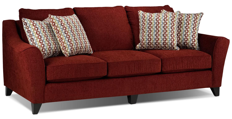 Living Room Furniture - Alijon Sofa - Red