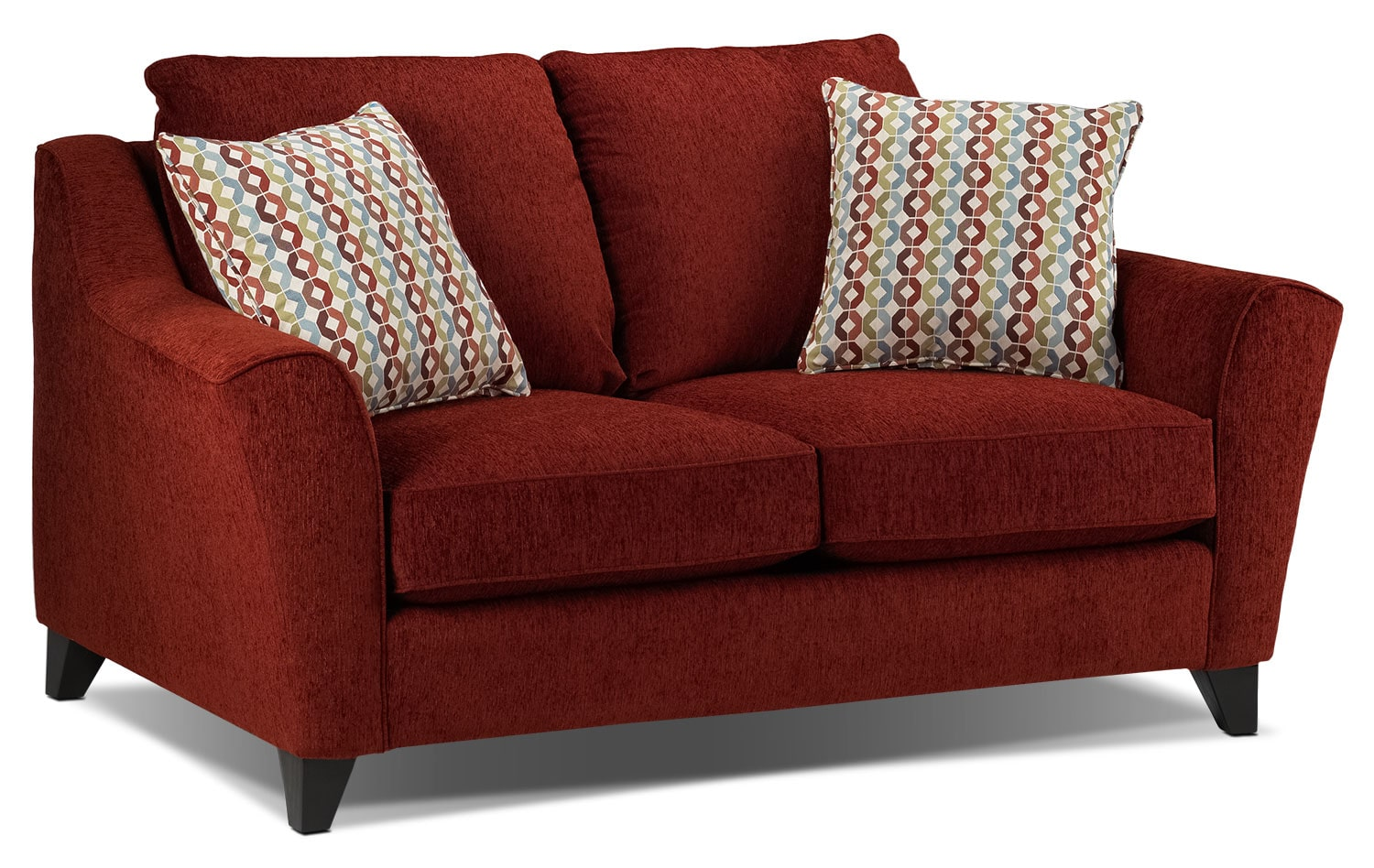 Living Room Furniture - Alijon Loveseat - Red