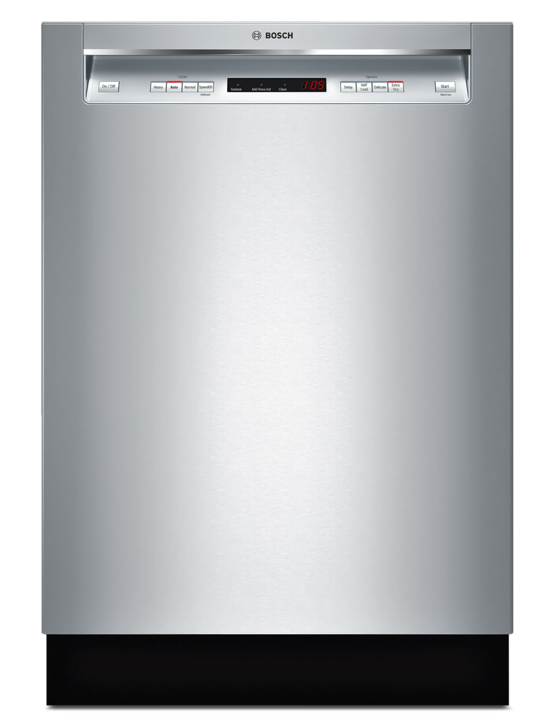 "Bosch Ascenta 24"" Recessed Handle Built-In Dishwasher – SHE4AV55UC"