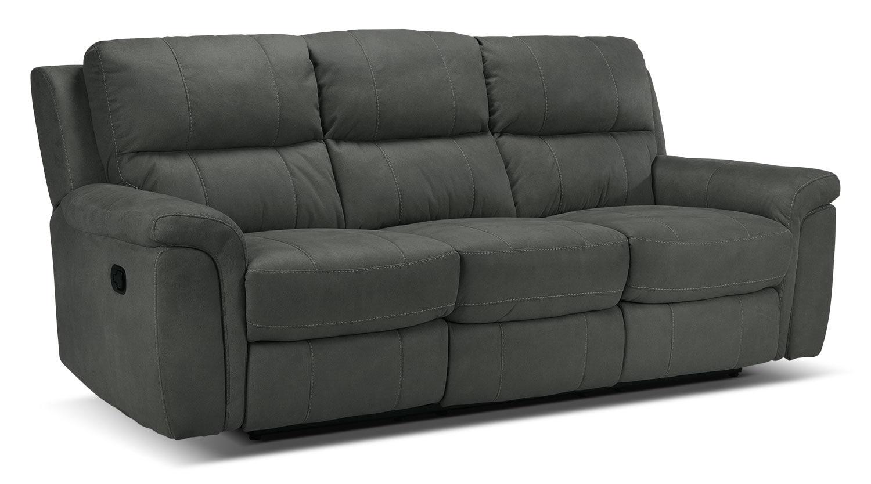 Roarke Reclining Sofa Charcoal Leon S