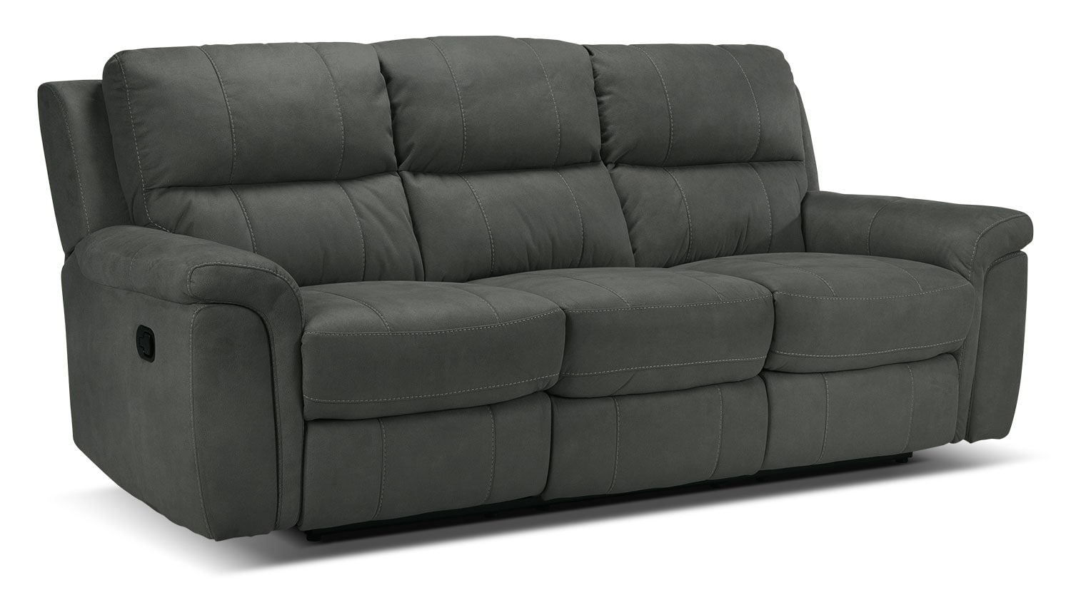 Living Room Furniture - Roarke Reclining Sofa - Charcoal