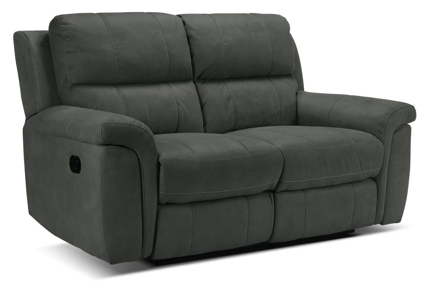 Living Room Furniture - Roarke Reclining Loveseat - Charcoal