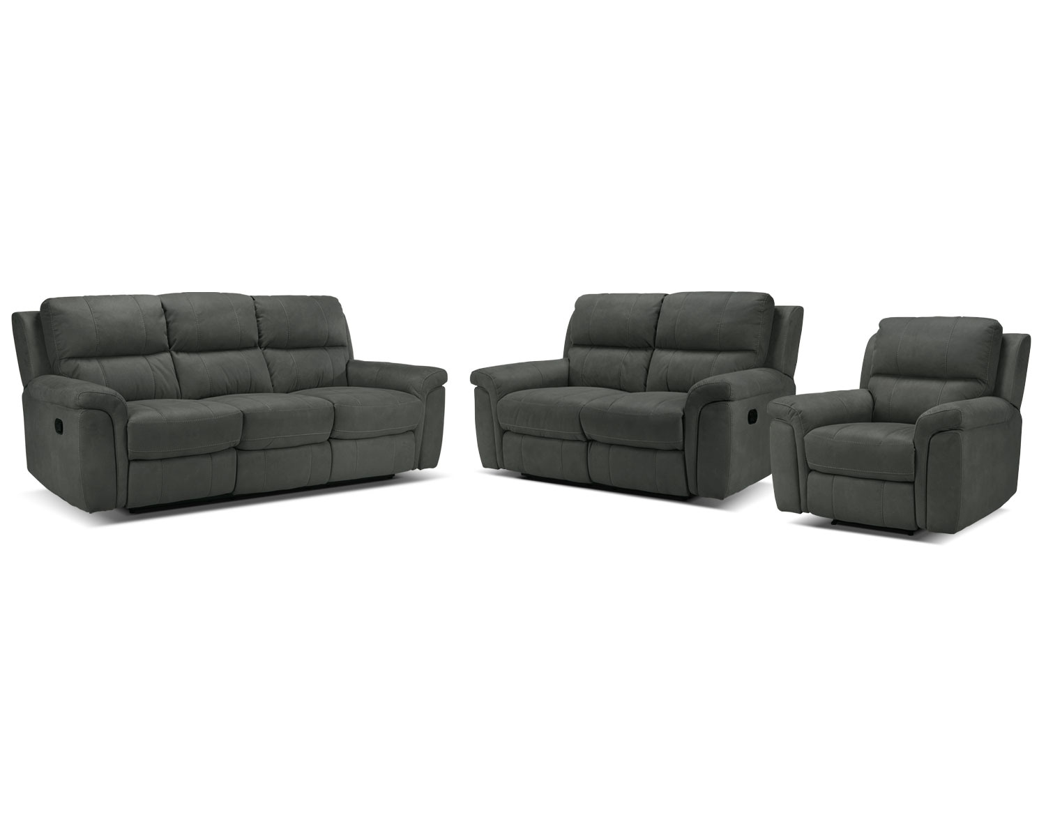 The Roarke Living Room Collection - Charcoal