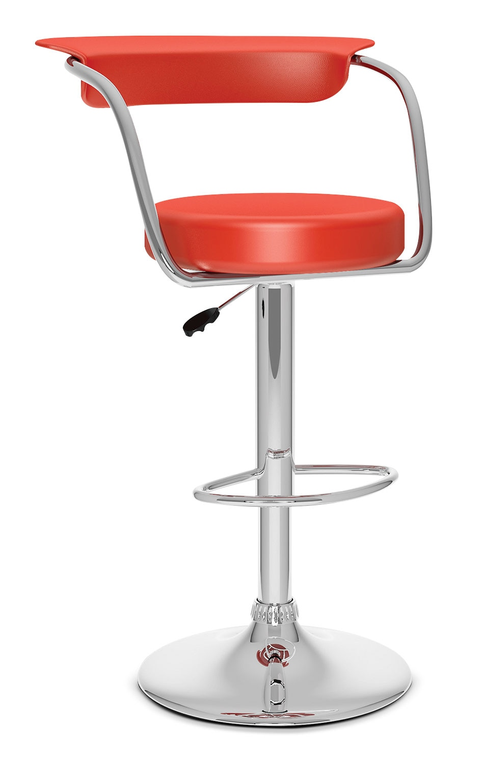 Dining Room Furniture - CorLiving Adjustable Barstool - Red