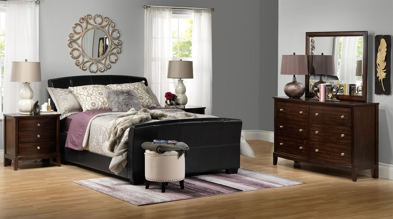 [New Manhattan 5-Piece Queen Bedroom Set]