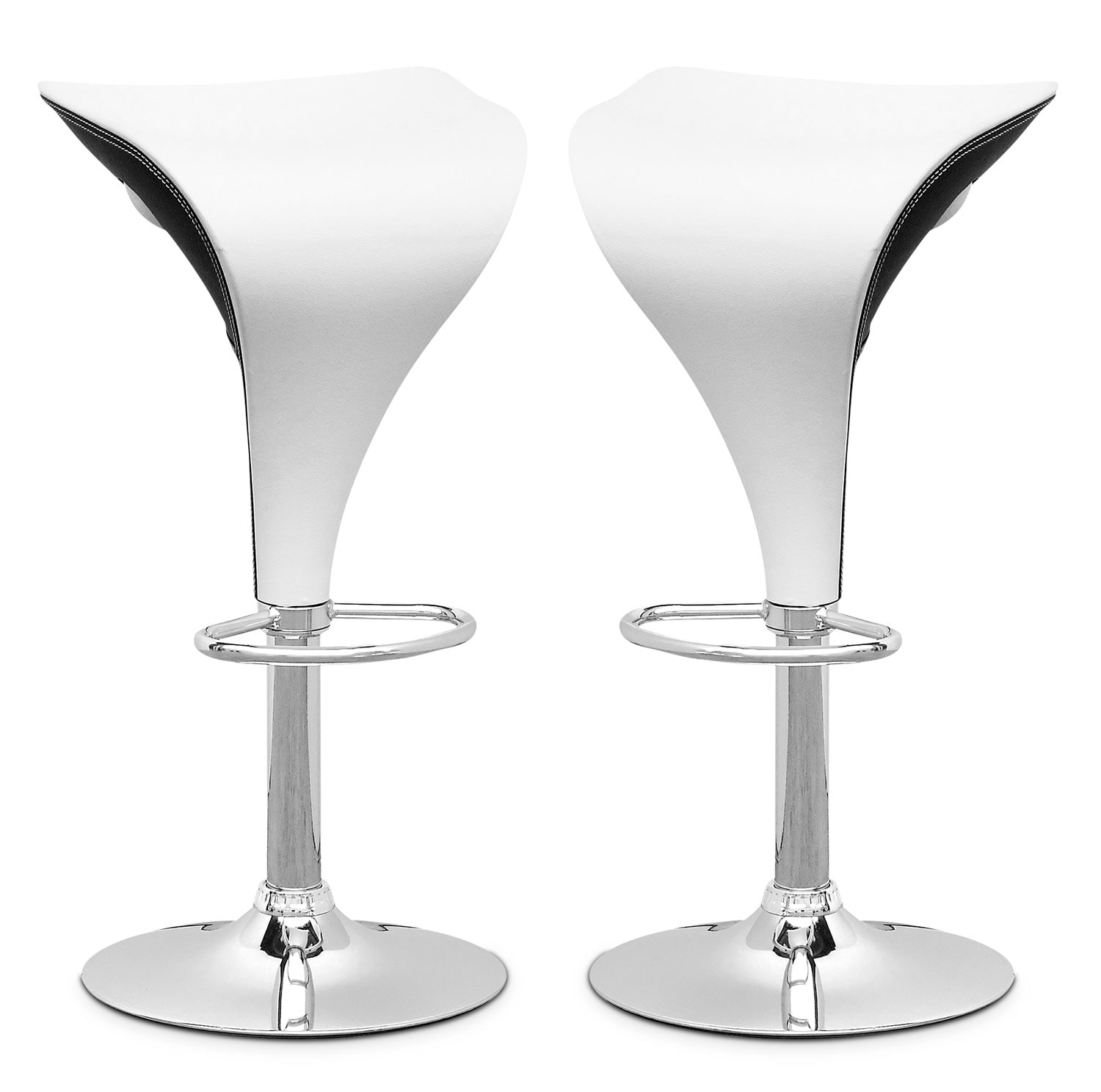 Dining Room Furniture - Adjustable Two-Toned Bar Stool, Set of 2 – White