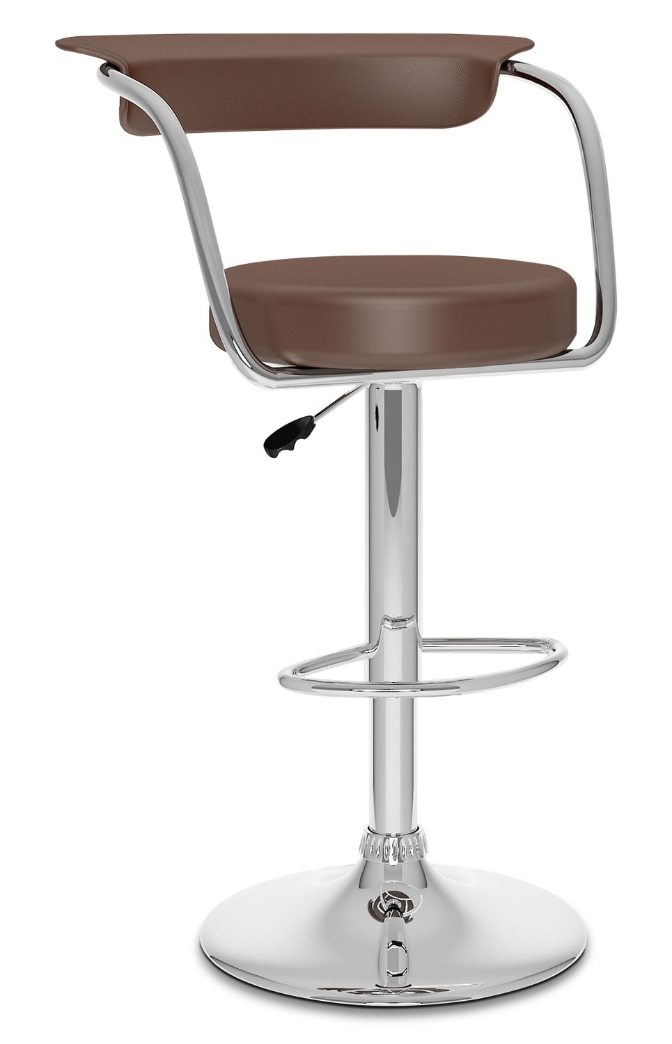 CorLiving Open Back Adjustable Bar Stool - Brown