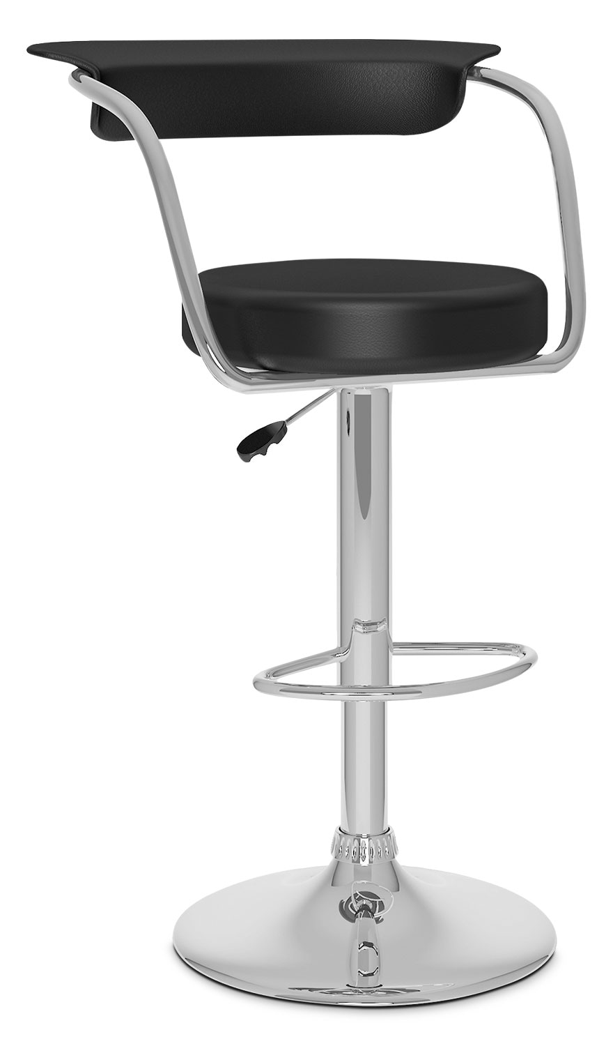 Dining Room Furniture - CorLiving Open-Back Adjustable Bar Stool - Black