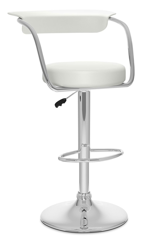 CorLiving Open Back Adjustable Bar Stool - White