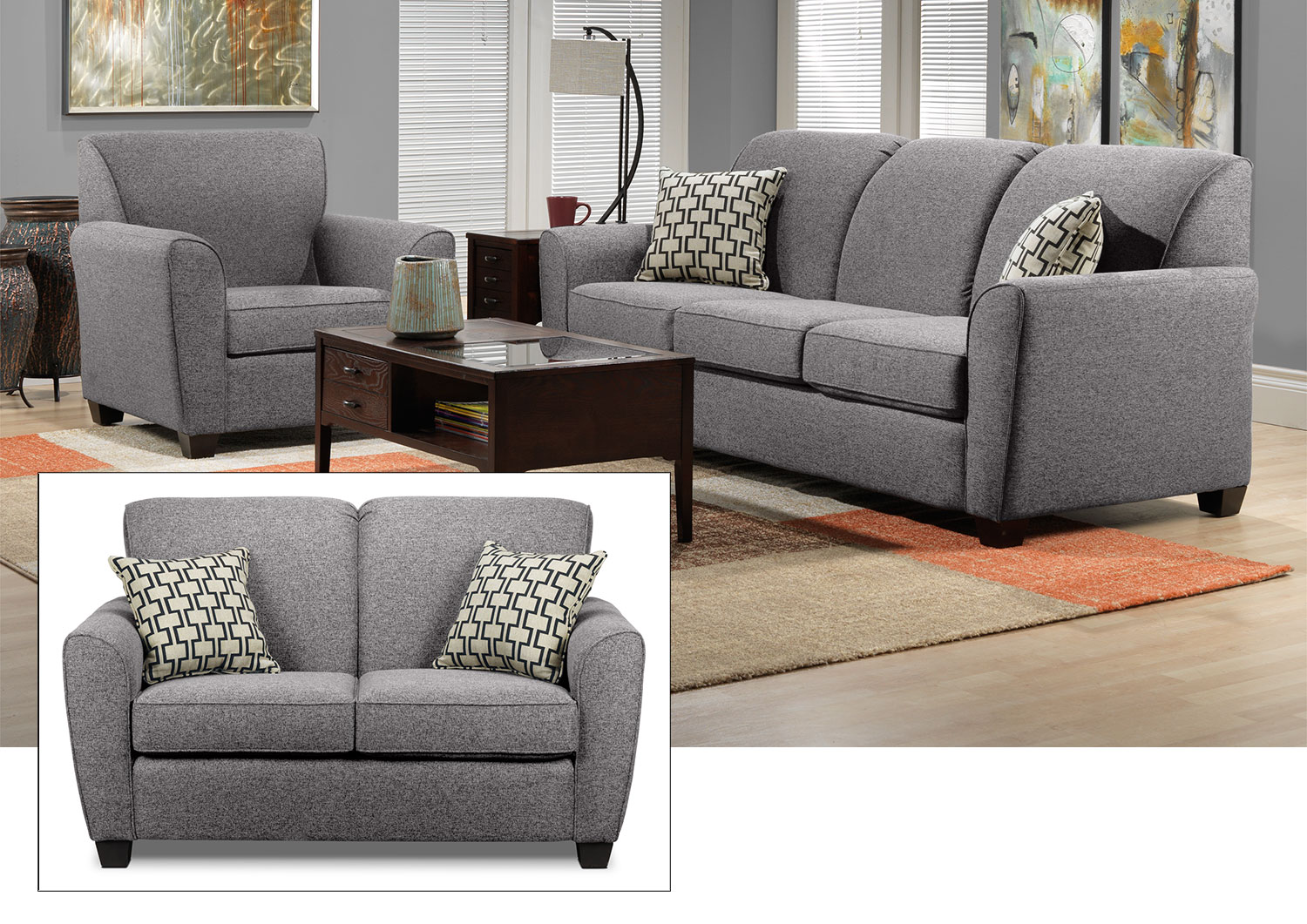 Ashby 3 Pc. Living Room Package - Oreo