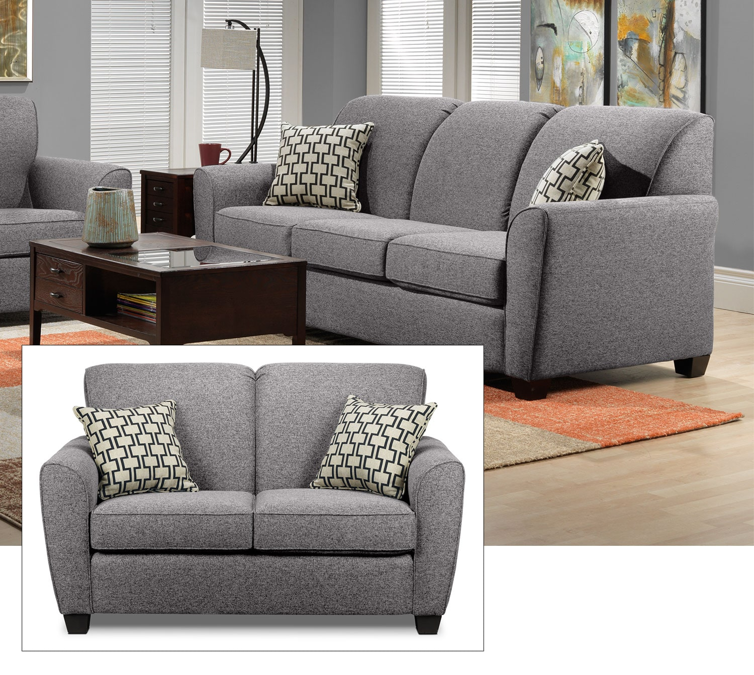 Ashby 2 Pc. Living Room Package w/ Loveseat - Oreo