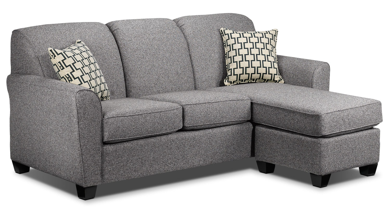 Living Room Furniture - Ashby Chaise Sofa - Oreo
