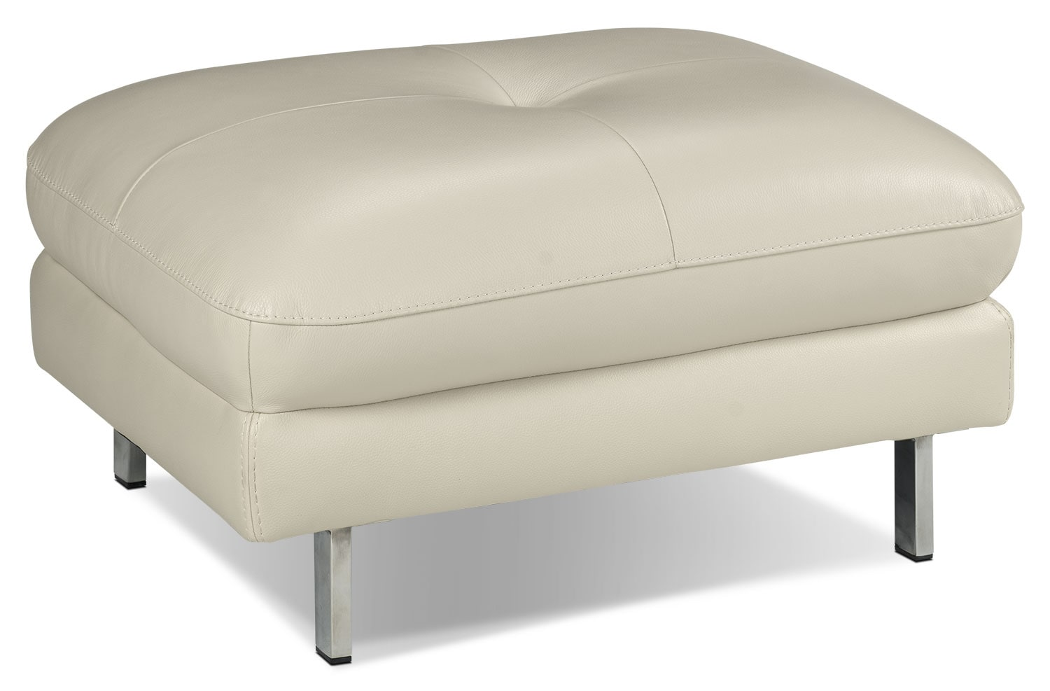 Living Room Furniture - Anika Ottoman - Bisque