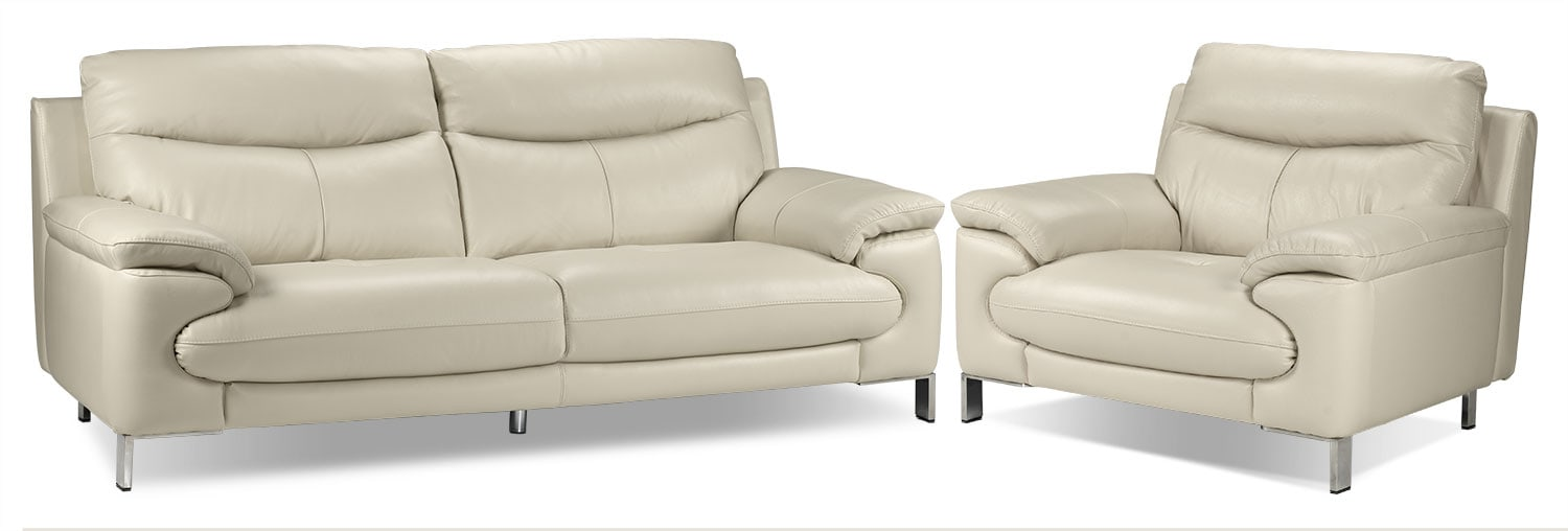 Anika Sofa and Chair Set - Bisque