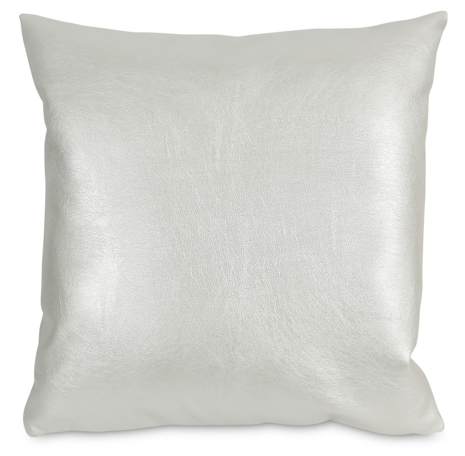 Metallika Accent Pillow – Pearl White