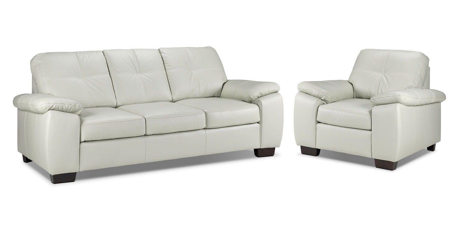 Naples Sofa and Chair Set - Smoke