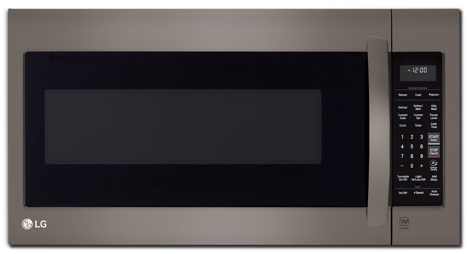 Cooking Products - LG 2.2 Cu. Ft. Over-the-Range Microwave – Black Stainless Steel LMV2257BD