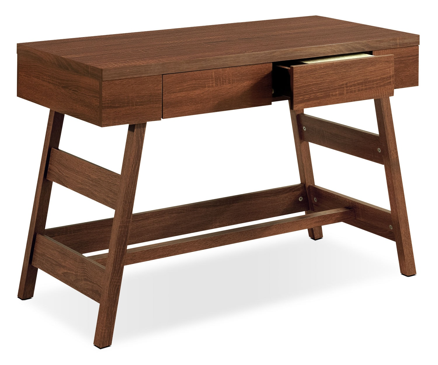 "Home Office Furniture - Cadiz 43"" Desk - Warm Oak"