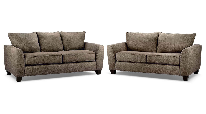 Heritage Sofa and Loveseat Package - Nutmeg
