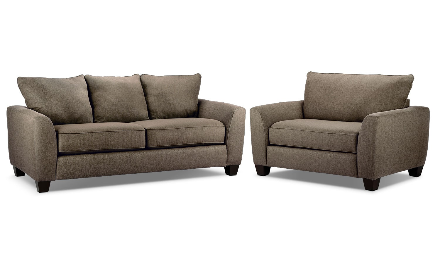 Heritage Sofa and Chair and a Half Package - Nutmeg
