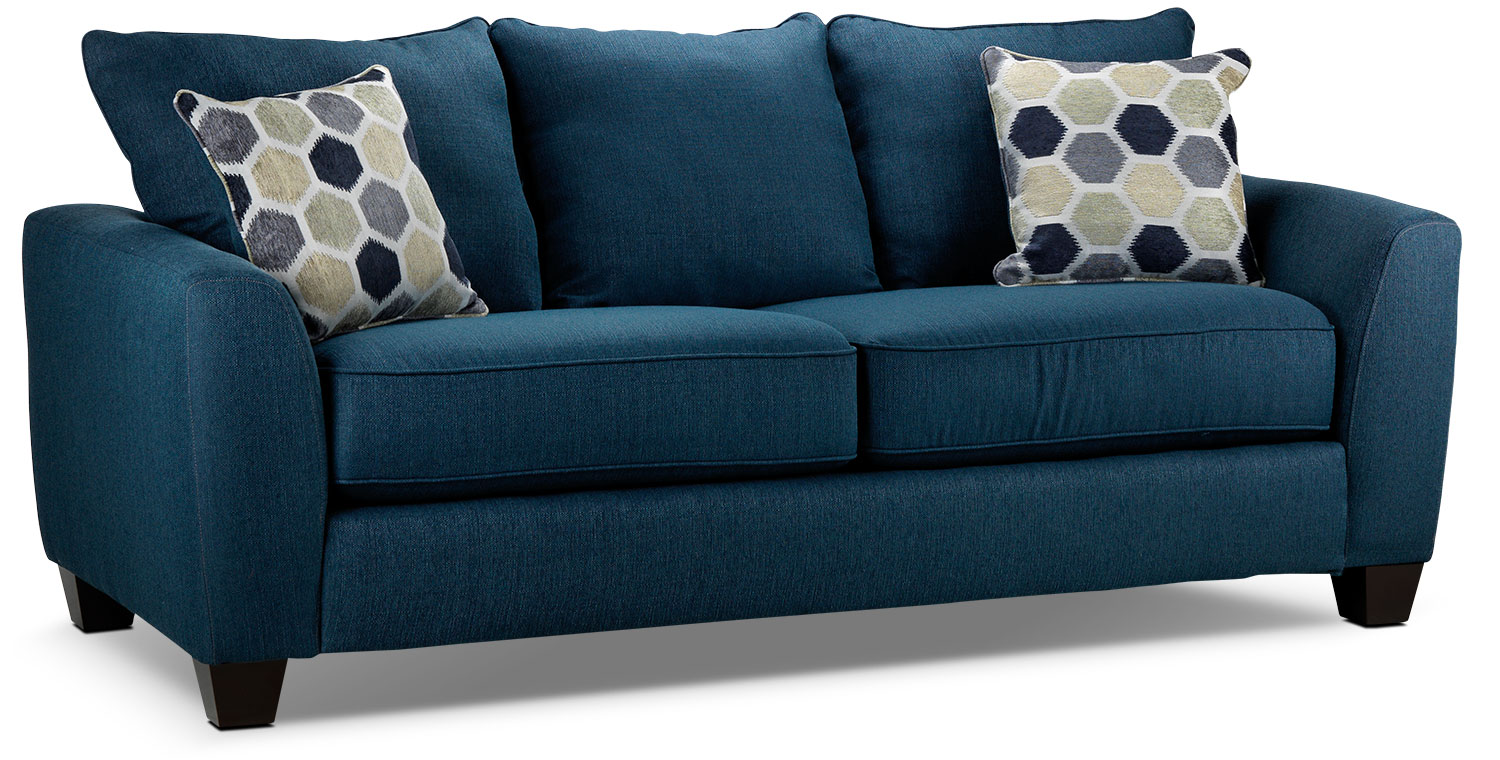 Living Room Furniture - Heritage Sofa - Navy