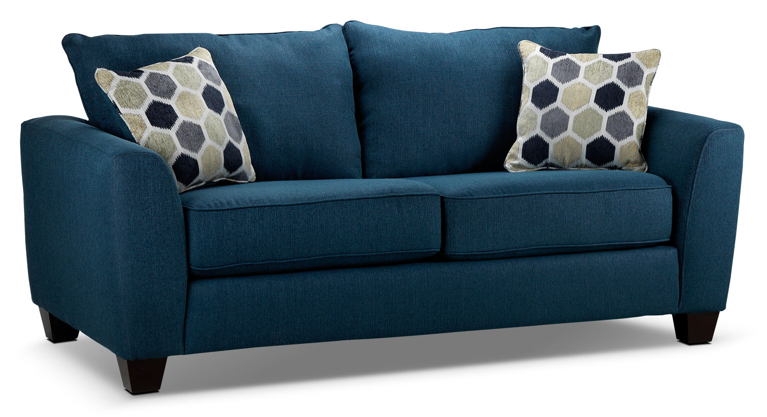 Living Room Furniture - Heritage Loveseat - Navy