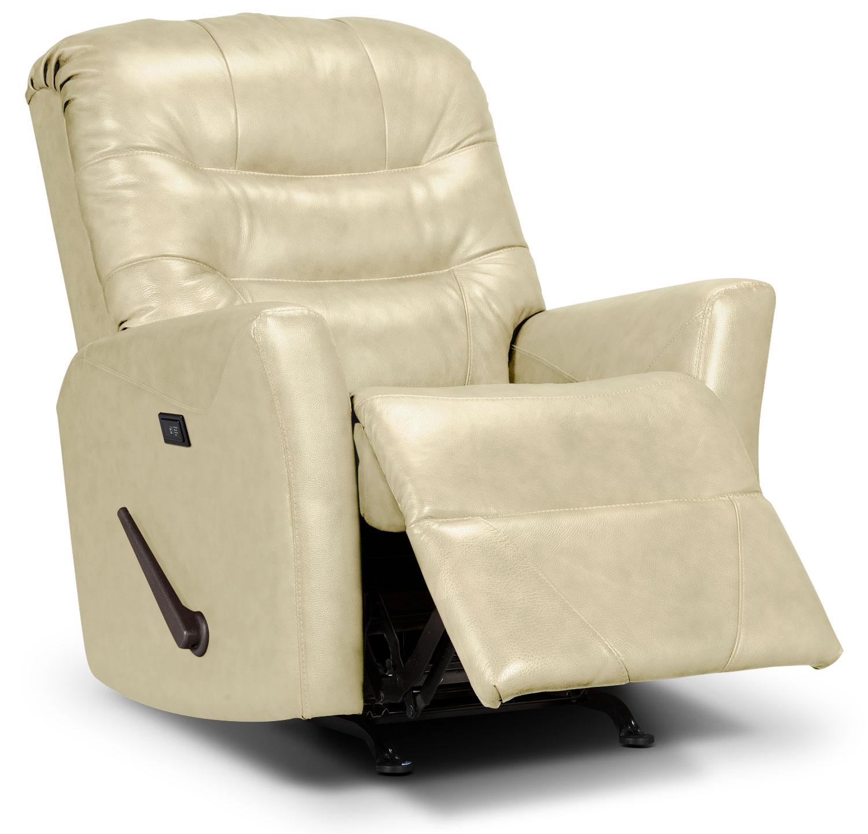 Designed2B Recliner 4560 Bonded Leather Massage Recliner - Beige