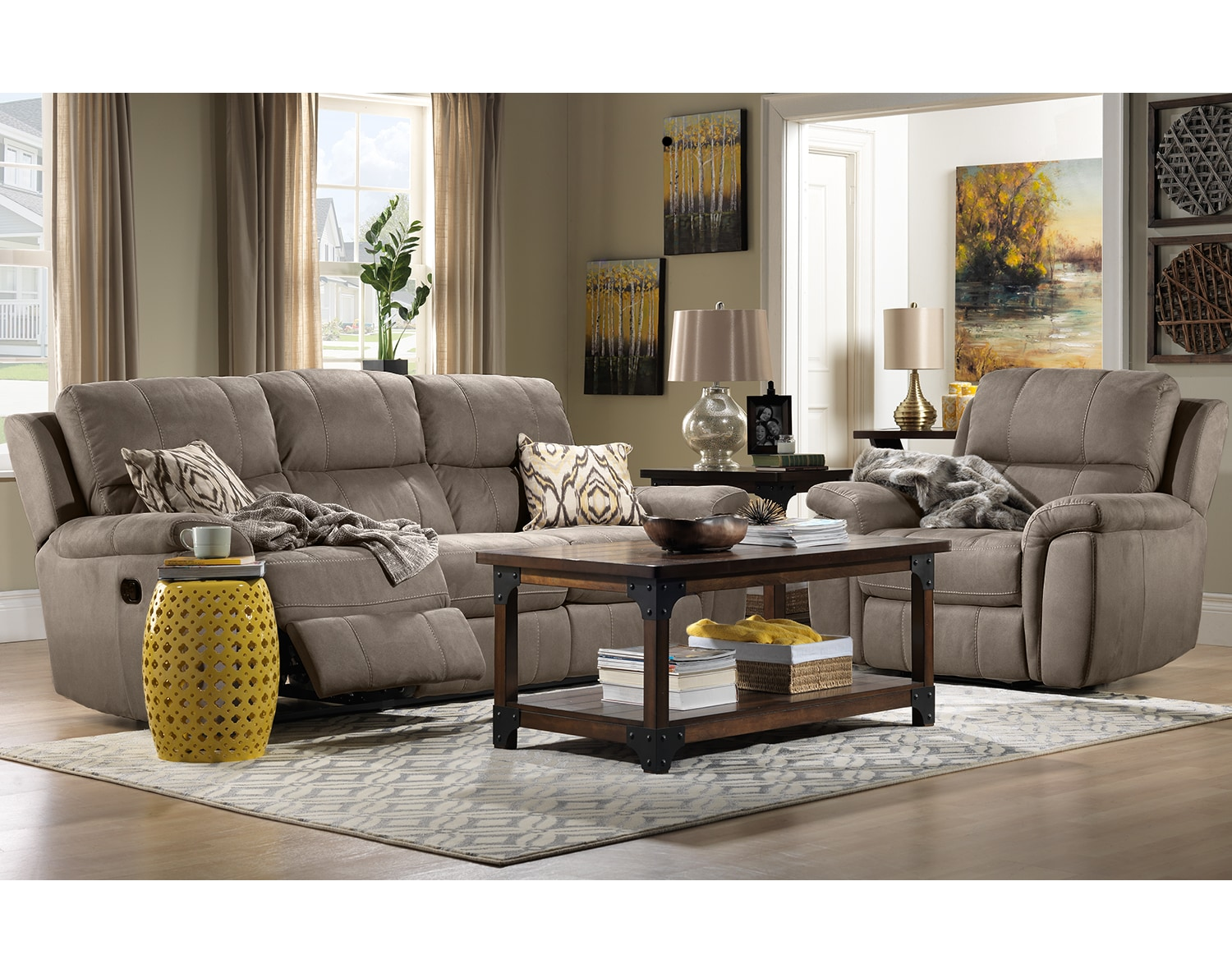 The Roarke Living Room Collection - Silver Grey