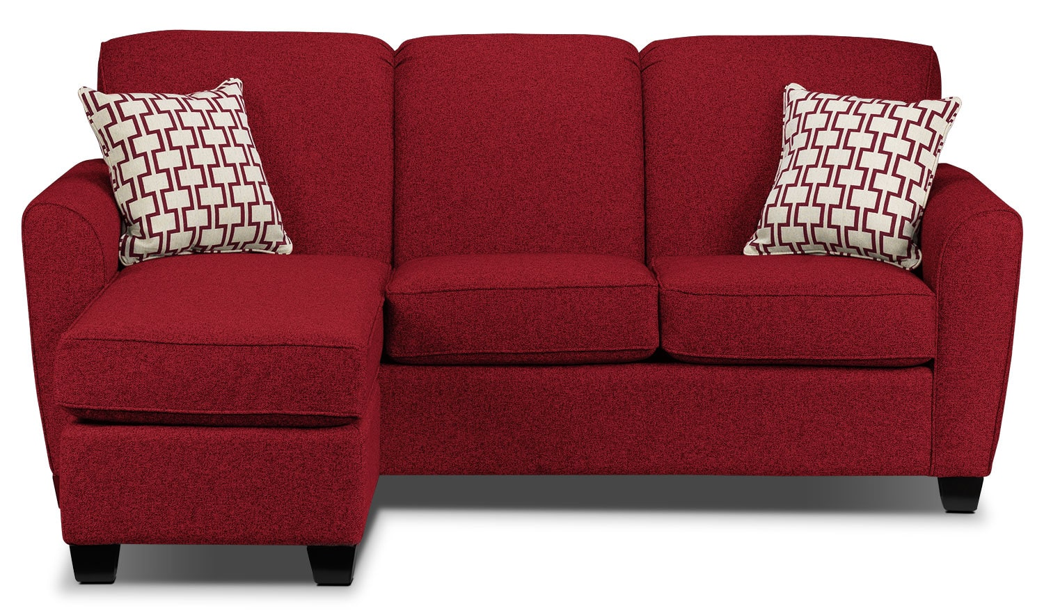 ashby chaise sofa  red  leon's - click to change image