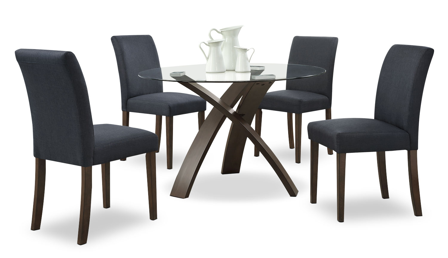 Skye 5-Piece Dining Package – Charcoal