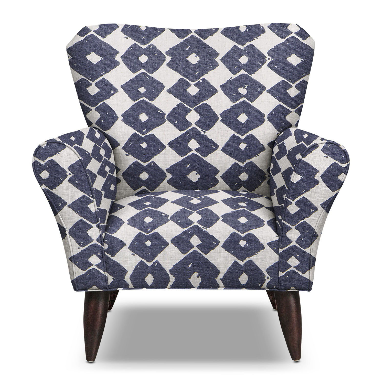 jessie accent chair blue value city furniture