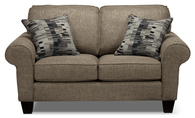 Living Room Furniture - Drake Loveseat - Mercury