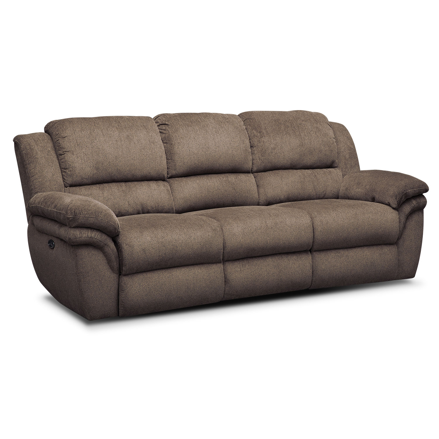 Aldo power reclining sofa loveseat and recliner set mocha value city furniture Power loveseat recliner