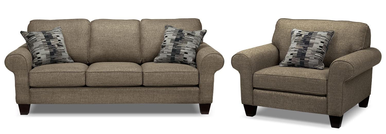 Drake Sofa and Chair Set - Mercury