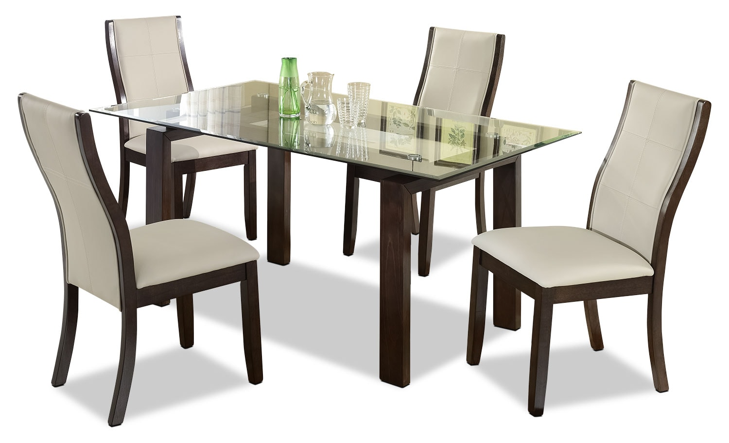 Tyler 5 Piece Dining Package Taupe The Brick