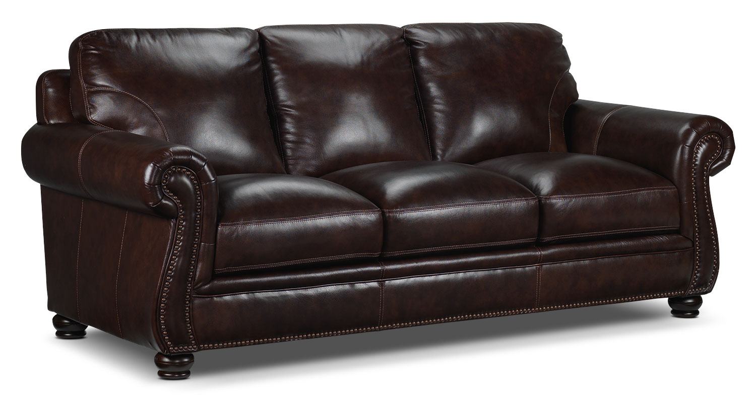 Living Room Furniture - Rafferty Sofa - Walnut