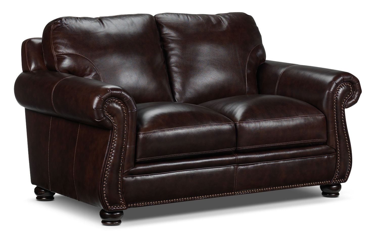 Living Room Furniture - Rafferty Loveseat - Walnut