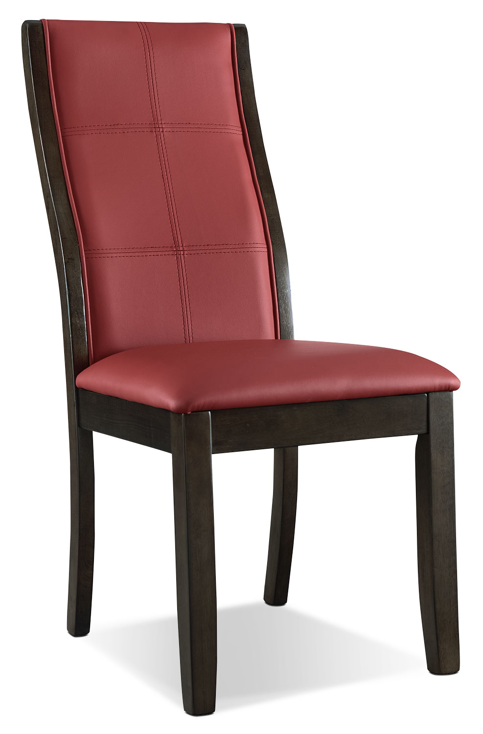 Tyler dining chair red the brick for Red dining room chairs